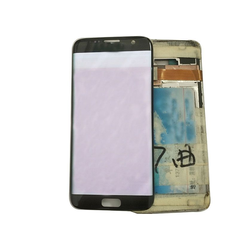 100% Test LCD Display For Samsung S7 edge LCD Display For S7 edge G935 G935F Burn Shadow Display LCD Screen Touch Digitizer