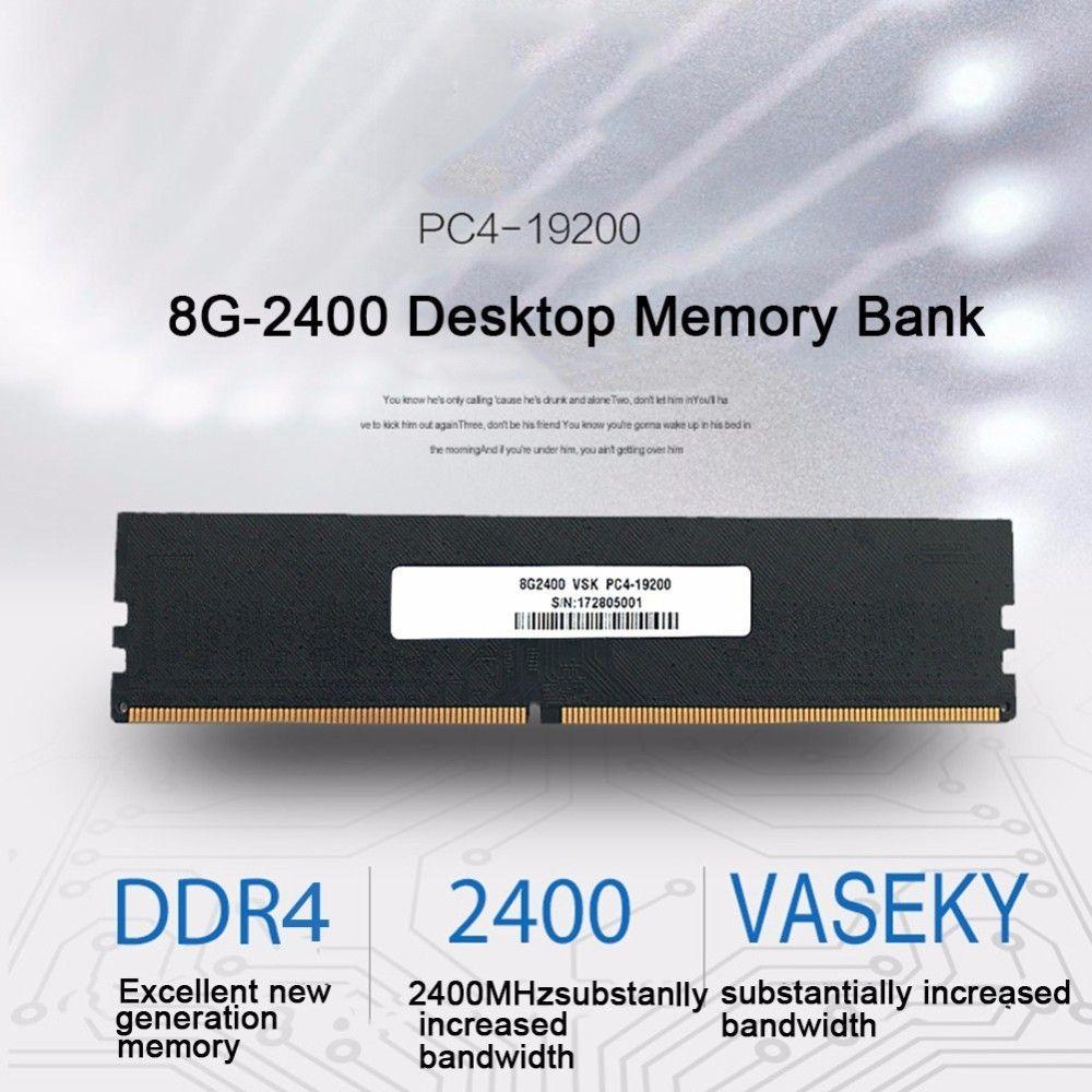 Vaseky DDR4 Vierte Motherboard 8G Speicherkapazität 2400HMz Desktop-speicher Bank Für Hohe Zunahme & Übertragungsgeschwindigkeit
