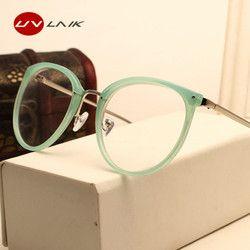 Uvlaik moda óptica Gafas lente transparente ojo miopía Gafas mujeres vintage metal gafas mujer diseñador gafas marcos