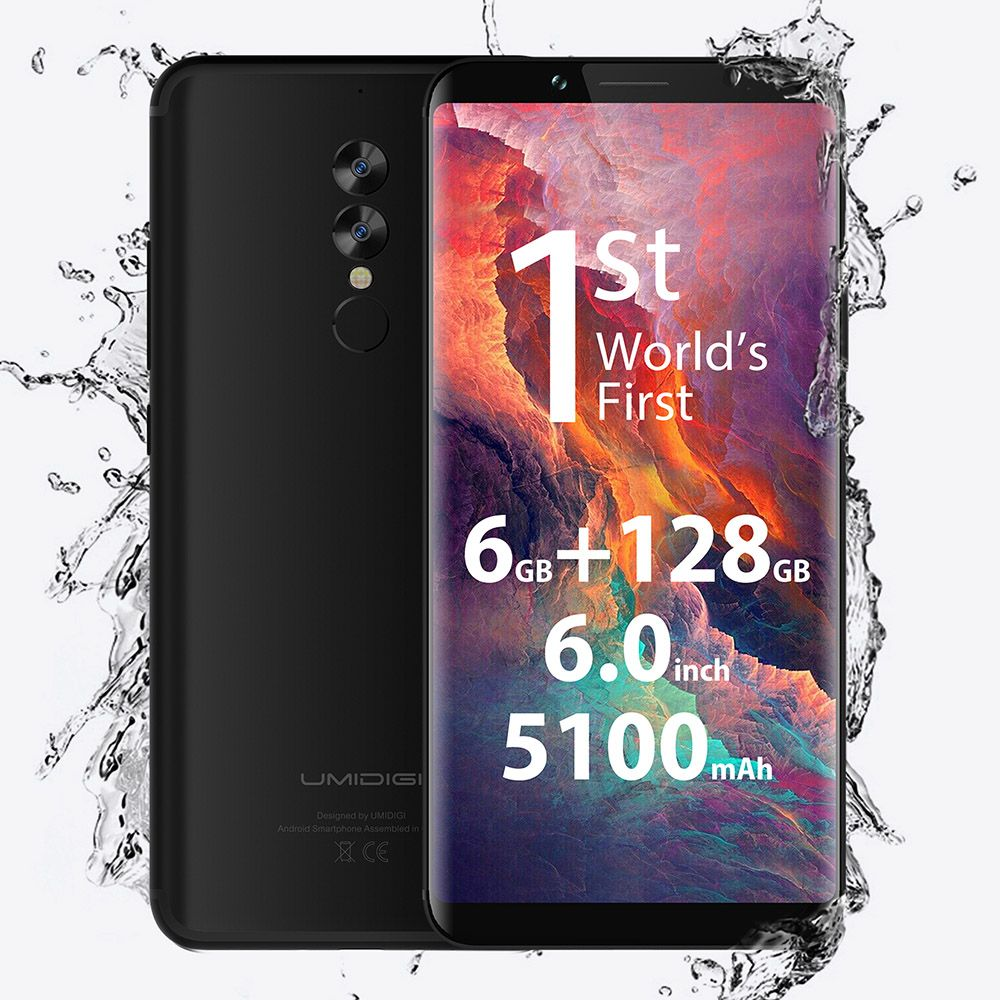 UMIDIGI S2 Pro 4G Smartphone Android 7.0 6GB RAM 128GB ROM 6.0 Inch Helio P25 Octa Core 2.6GHz 13.0MP 5.0MP Dual Rear Camera GPS