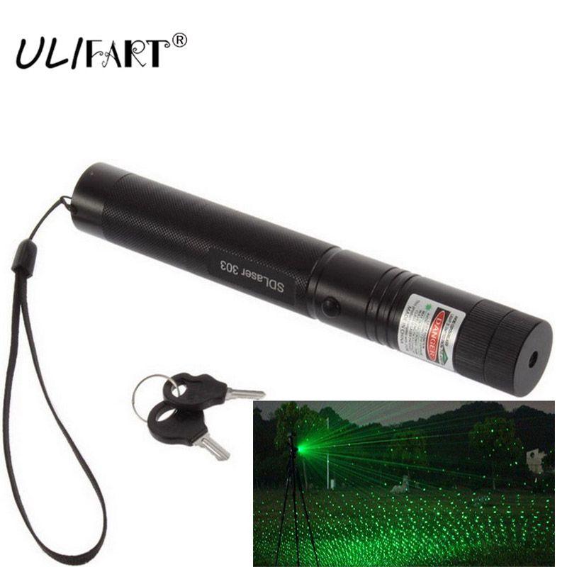 Stylo Laser militaire puissant vert Puntero Laser pointeur 303 foyer réglable gravure chasse Laser lumière lampe de poche livraison directe
