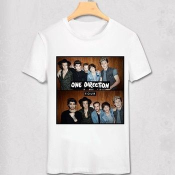 One Direction T shirt Louis Tomlinson Niall Horan Liam Payne Harry Styles Pop Music Stars Fans T-shirt 1D Casual Funny shirt