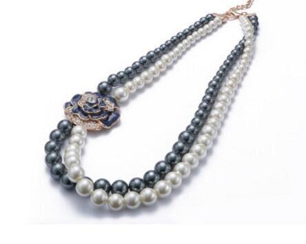 CN00012 белый жемчуг necklacewith коробка