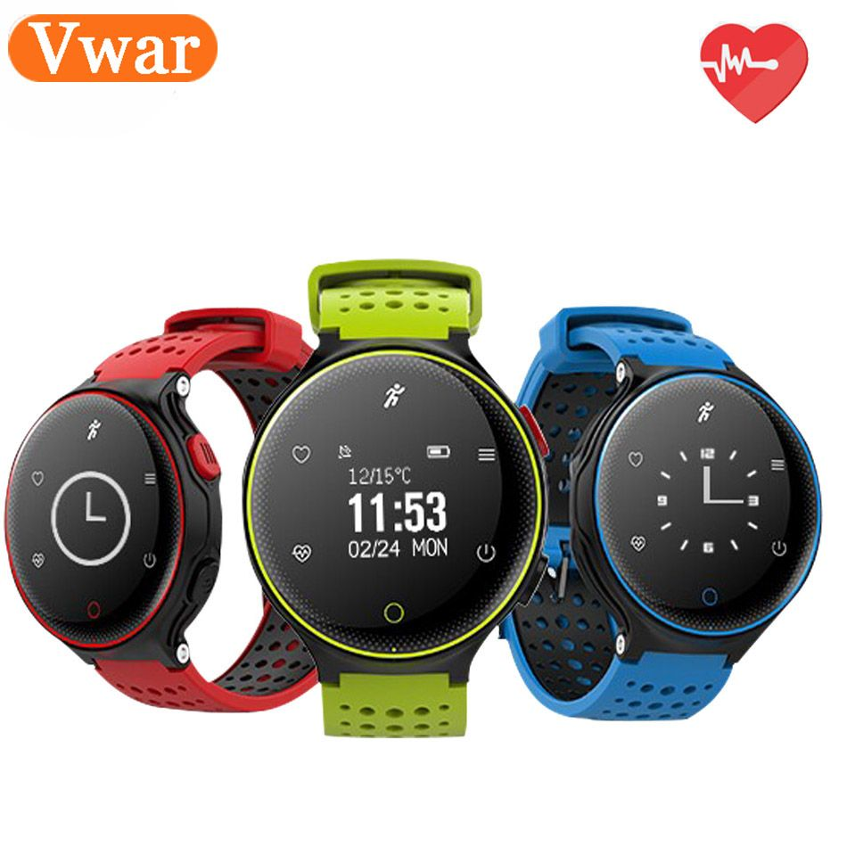 Vwar XR02 BT4.0 Smart watch IP68 Waterproof Support Message push <font><b>Blood</b></font> pressure and oxygen Heart Rate Phone Call Reminder