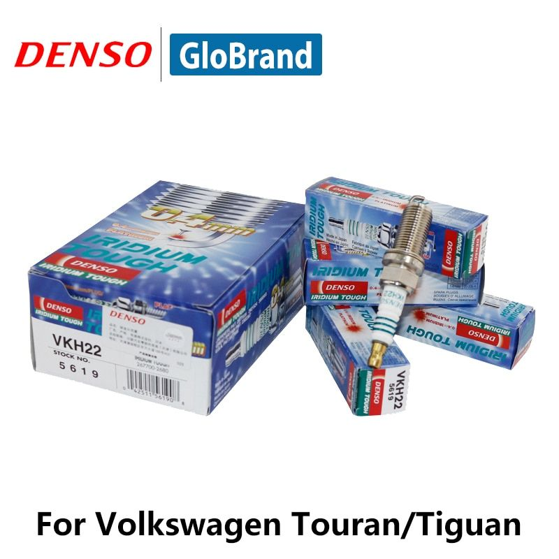 4pieces/set DENSO Car Spark Plug For Volkswagen Touran Tiguan Volvo XC60 XC90 Subaru Legacy Iridium Platinum VKH22