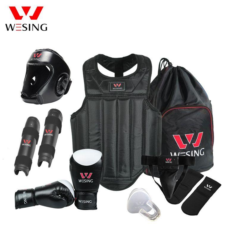 Kampfkunst getriebe Wushu Sanda Schutz Set 8 Stücke Sanda Wettbewerb Ausrüstung für die ausbildung