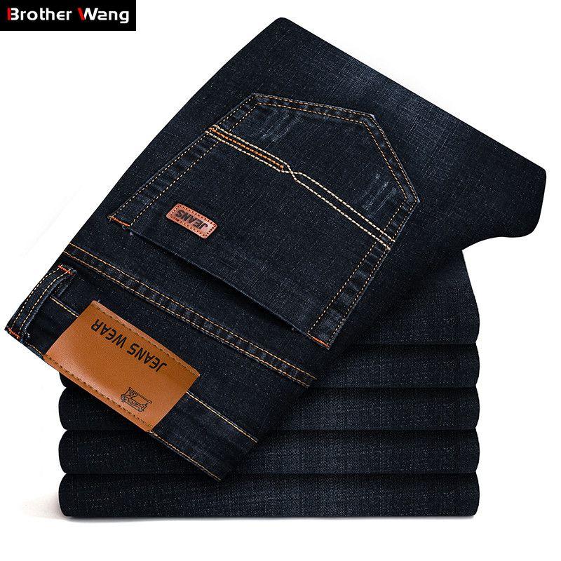 Brother Wang marque 2019 nouveaux hommes mode Jeans affaires décontracté Stretch Slim Jeans classique pantalon Denim pantalon mâle 101