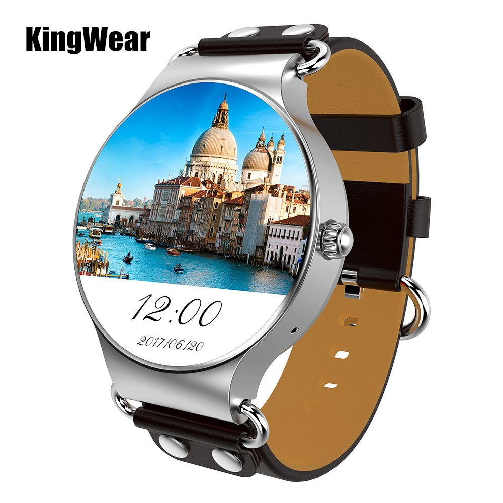 KingWear KW98 3G Smartwatch Phone Android 5.1 1.39 inch MTK6580 Quad Core 1.0GHz 8GB ROM GPS Heart Rate Pedometer Smart Watch