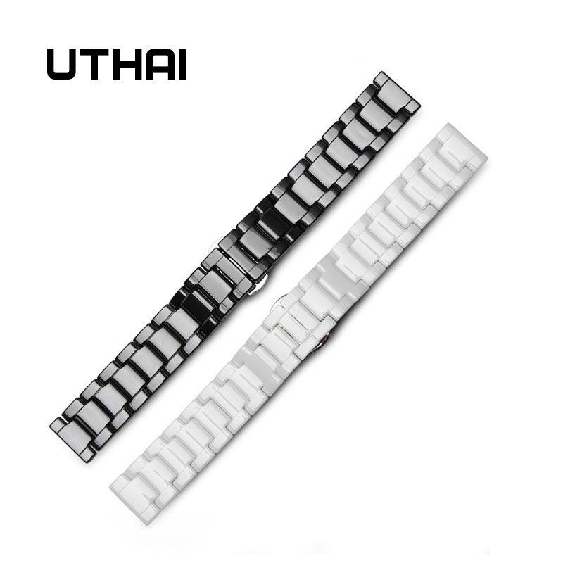 UTHAI C01 Céramique 20mm bracelet de montre 22mm bracelet de montre qualité supérieure Bracelets