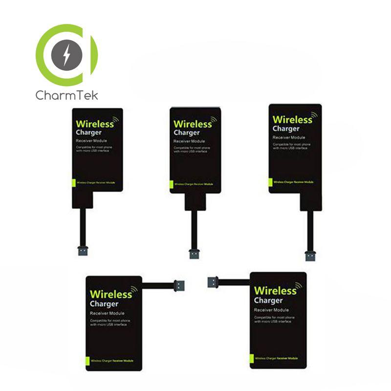 Android Micro USB 2 Broches Qi Chargeur Sans Fil Récepteur Adaptateur De Charge récepteur Récepteur Pad Bobine Pour Xiaomi 4 3 Pour LG G2