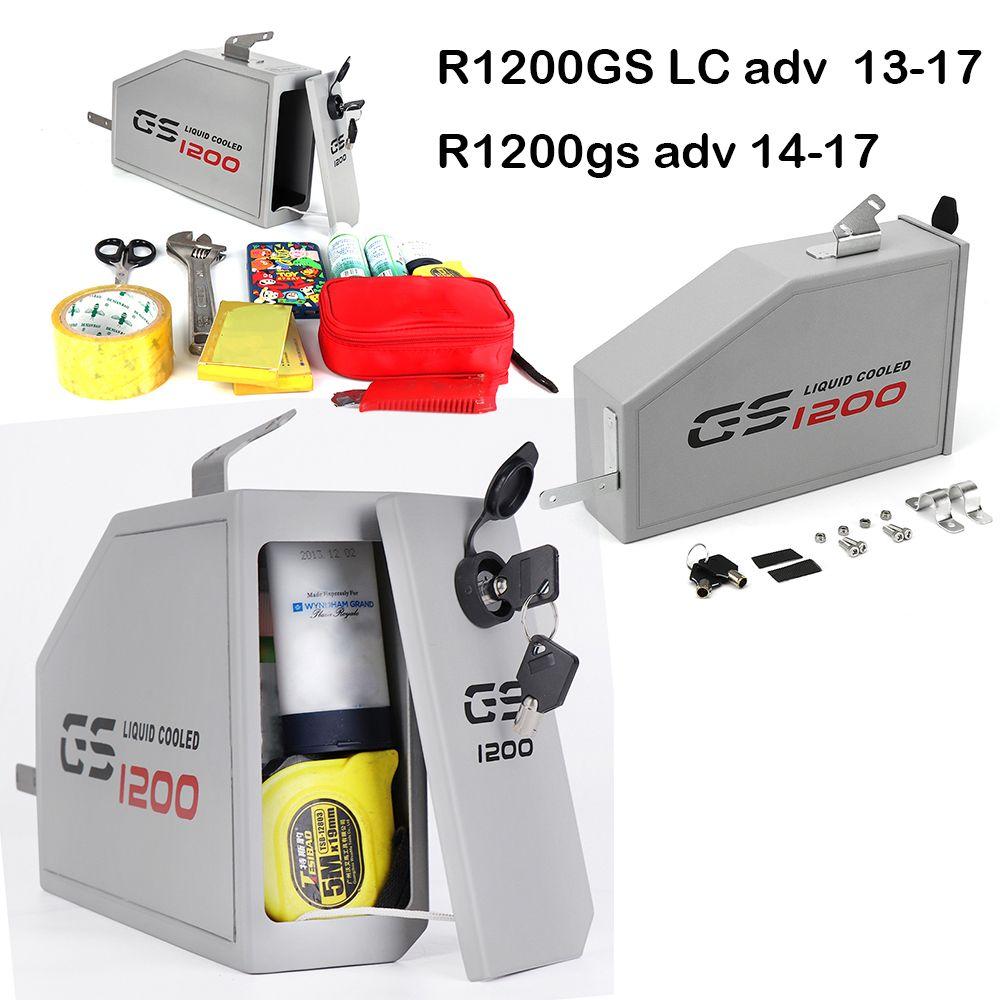 Für BMW R1200GS LC Abenteuer R 1200 GS Werkzeug Box 2014-2018 Dekorative Aluminium Box Toolbox 5 Liter für linke Seite Halterung 2013-18
