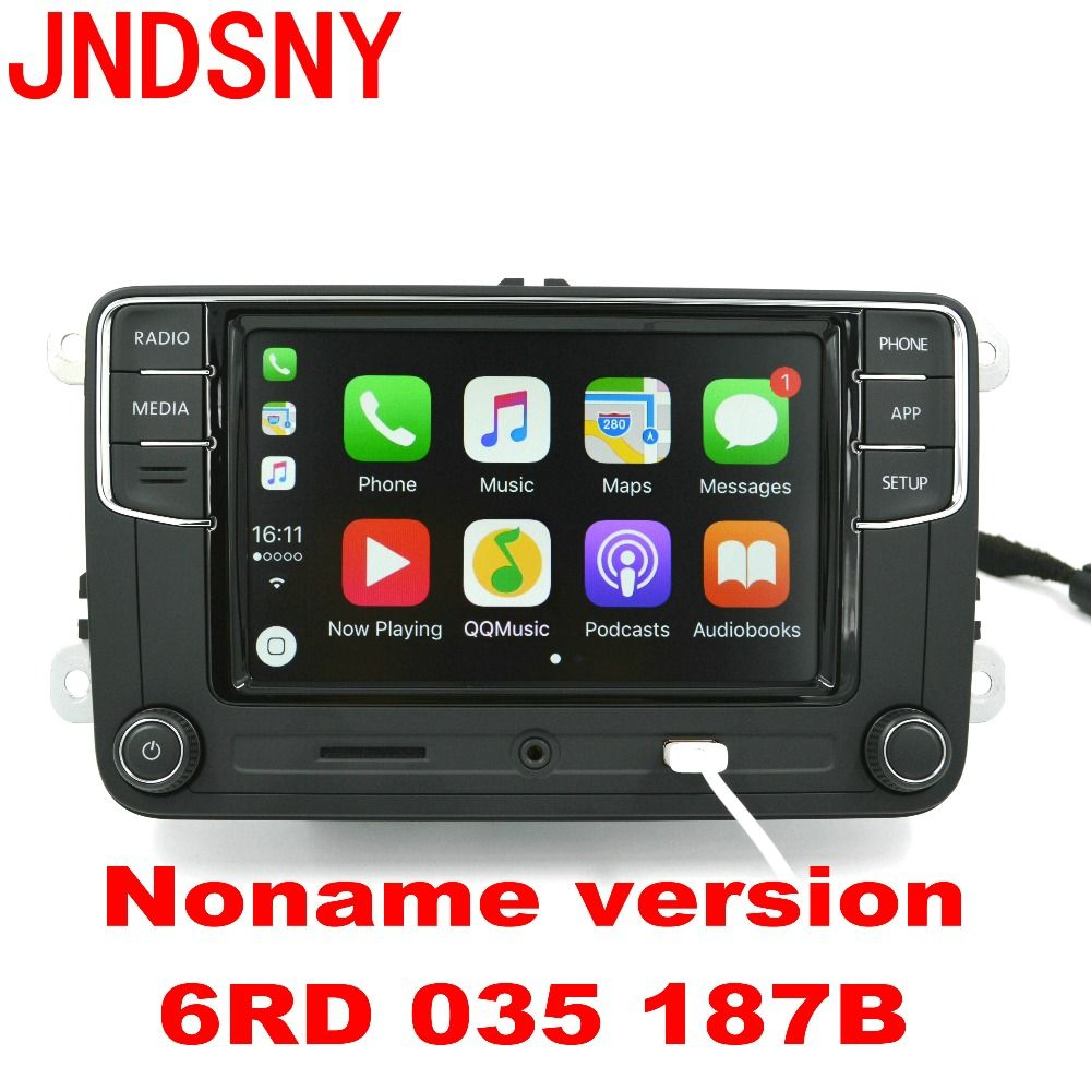 JNDSNY CarPlay Noname RCD330 RCD330G Plus CarPlay MIB Car Radio For VWGolf 5 6 Jetta CC Tiguan Passat B6 B7 Polo 6RD 035 187B