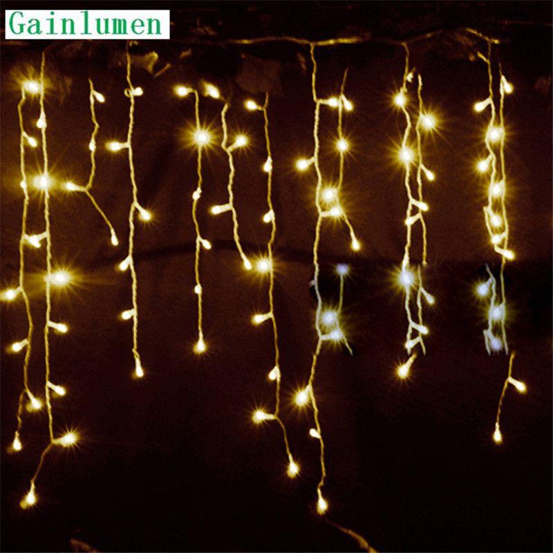 Chaîne lumières noël décoration extérieure goutte 4.5m Droop 0.3 m/0.4 m/0.5 m rideau glaçon chaîne led lumières Garden Party 220V