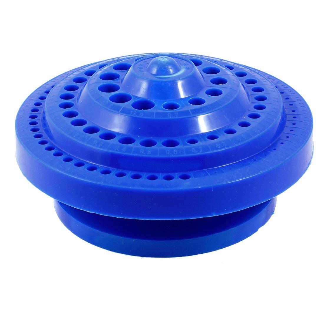 Runde Form Kunststoff Hard Bohrer Aufbewahrungskoffer-Blau