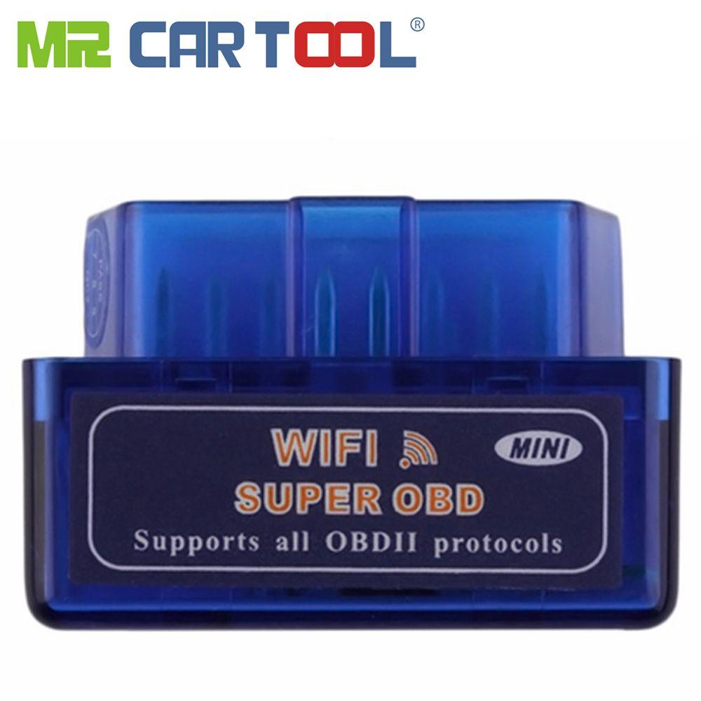 Mini ELM327 WiFi OBD2 ELM 327 Auto OBD 2 II voiture outil de Diagnostic lecteur de Code ODB Scanner pour IOS Android