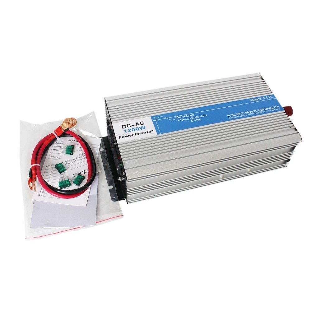 1200w pure sine wave inverter DC 12V/24V/48V to AC 110V/220V tronic power inverter circuits grid tie off cheap 12 24 48 V LED
