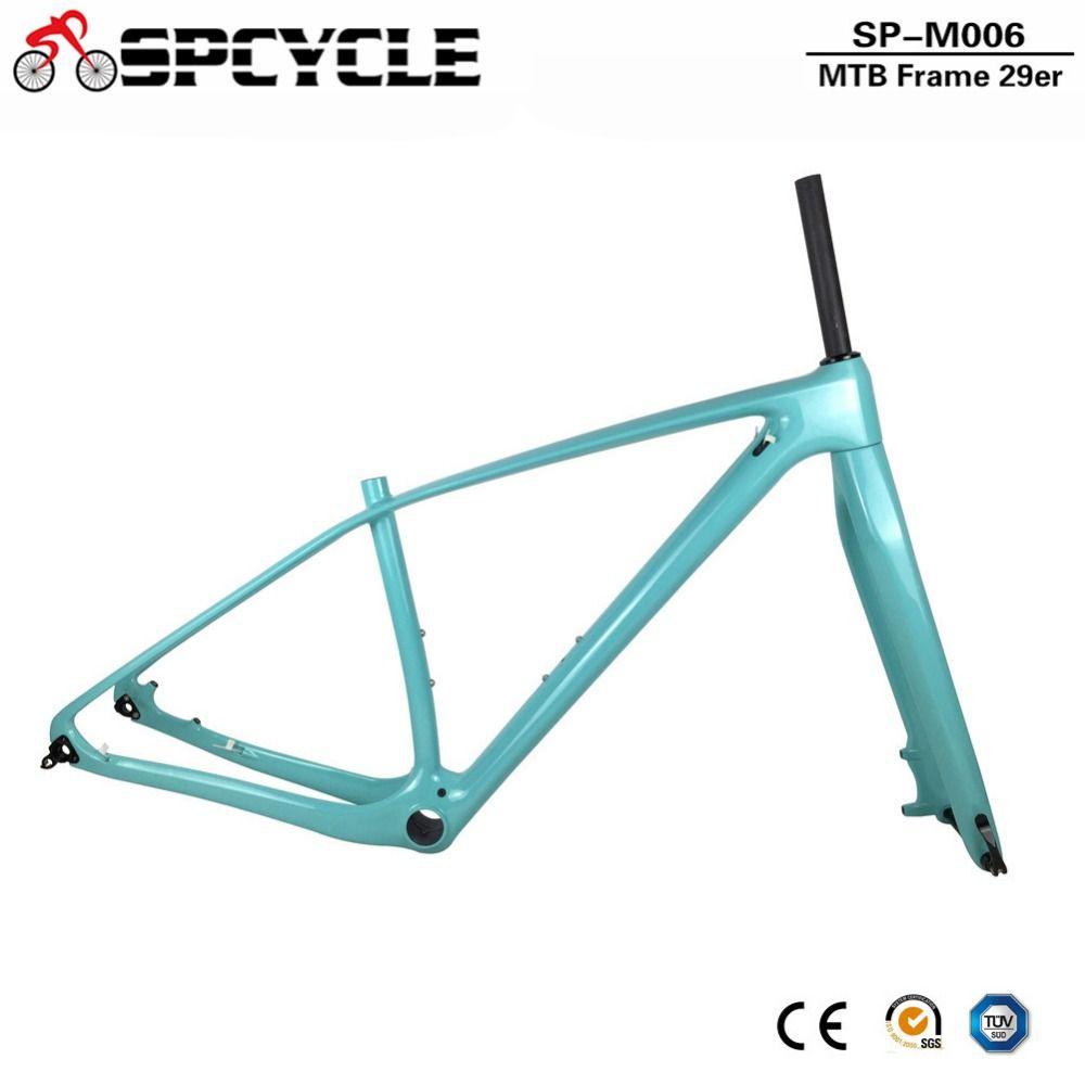 Spcycle T 100 0 Full Carbon MTB Rahmen Und Gabel 27.5ER 29ER Mountainbike Carbon Rahmen Mit 15*100mm Steckachse Gabeln PF30 Headset
