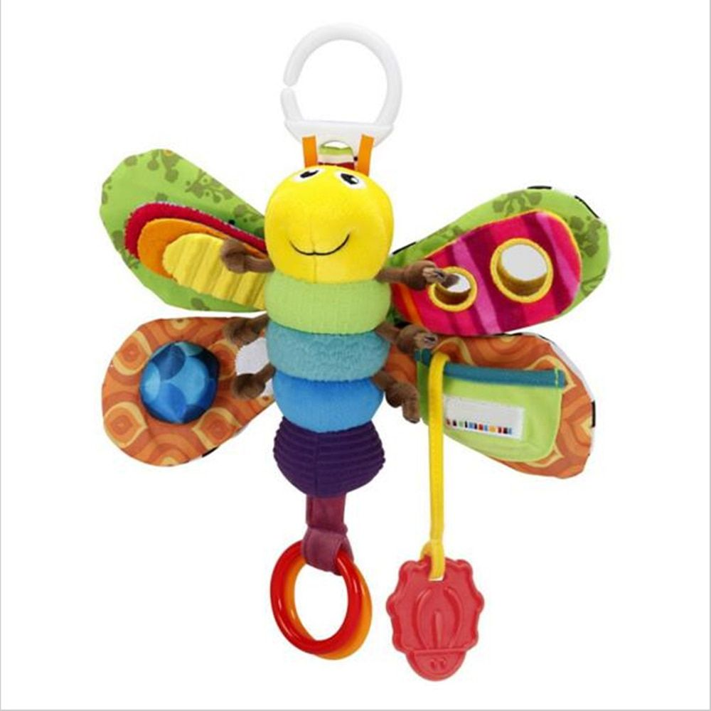 Baby Girl/Boy 0-12 Month Toys Stroller/Bed Hanging Butterfly/Bee Handbell Rattle/Mobile Teether Education Stuffed/Plush Kid Toys
