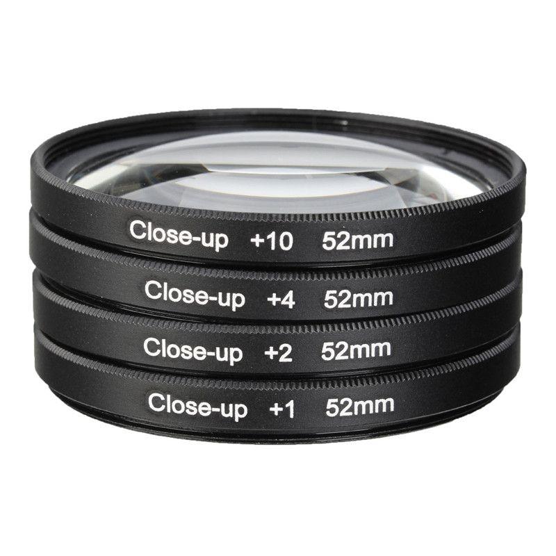 52 MM Macro Close Up Kit Filtro de La Lente + 1 + 2 + 4 + 10 para NIKON D7100 D5100 D5200 D3200 D3300 D3100 D800 D700 D600 D90 D80 Cámara Len