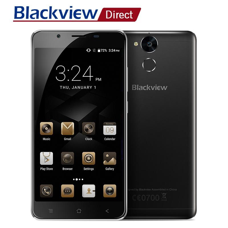 Original Blackview P2 Lite 5.5inch MTK6753 Octa core 3GB RAM 32GB ROM 6000mah Smart Android 7.0 4G LTE cellphone