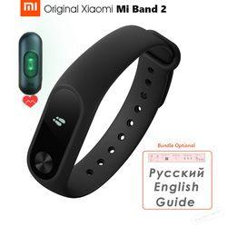 Оригинальный Xiaomi mi Группа 2 умный браслет с Bluetooth Фитнес браслет mi Группа 2 OLED Экран Touch Pad пульса IP67