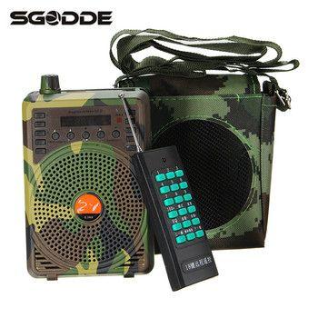 SGODDE التمويه 48 W الكهربائية طُعم للصيد رئيس الطيور المتصل المفترس الصوت MP3 لاعب الطيور فخ مع البعيد التحكم السلع