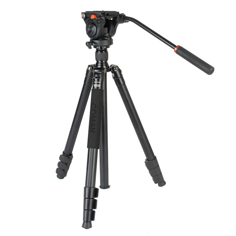 Ulanzi COMAN Professional Camera Video Monopod Tripod w 360 Fluid Head Lightweight Aluminum Compact for Nikon Camcorder Camera