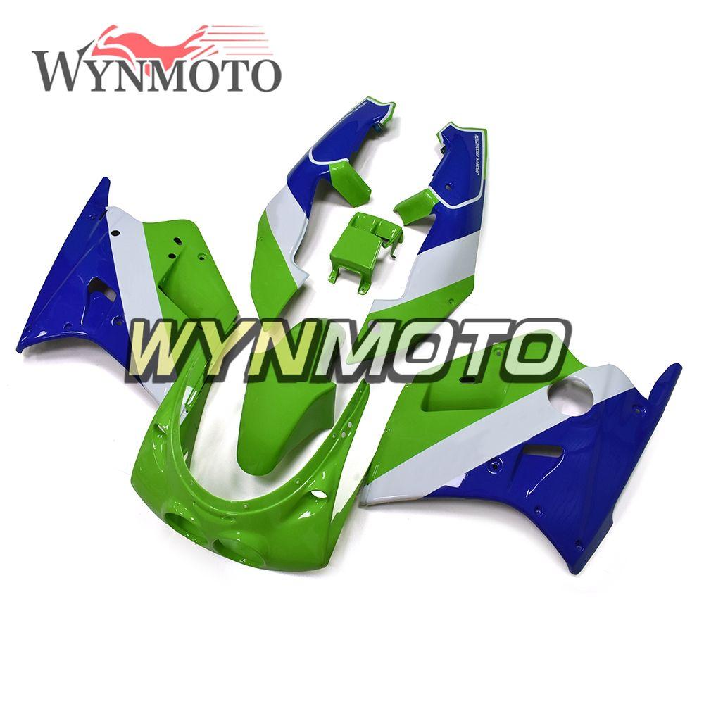 Komplette Grün Blau Verkleidungen Für Kawasaki ZXR250 1989 1990 89 90 ABS Kunststoff Cowling Karosserie Rahmen Motorrad Rümpfe Covers New