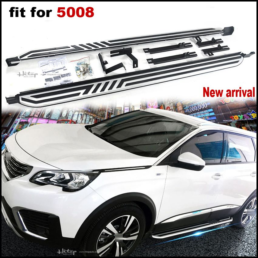 New arrival running board side step side bar Pedal for Peugeot 5008.thick aluminum alloy.ISO9001 quality,free shipping to Asia.