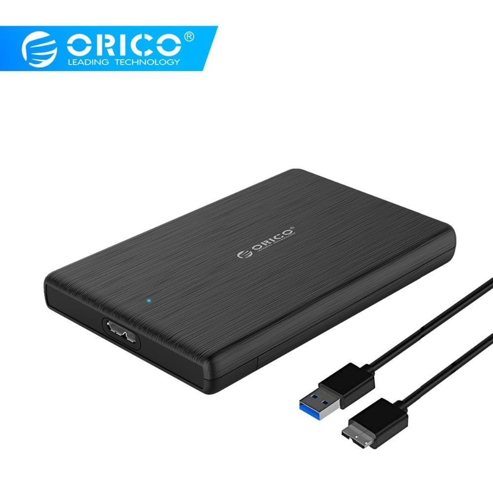 ORICO 2.5 USB 3.0 SATA HDD Box HDD Hard Disk Drive External HDD Enclosure Black Case