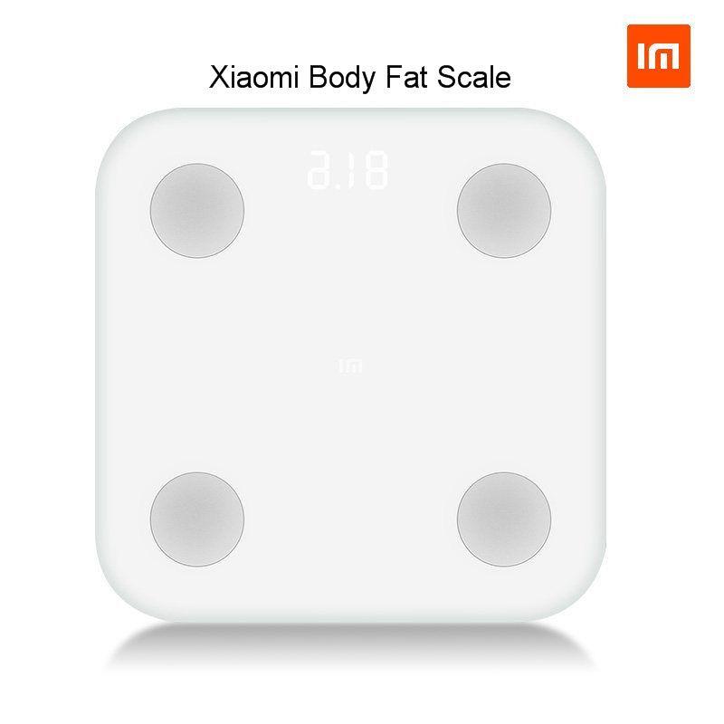 El envío libre 2017 nueva llegada xiaomi Cuerpo grasa escala inteligente Bluetooth 4.0 mi escala digital #2 pantalla LED oculta
