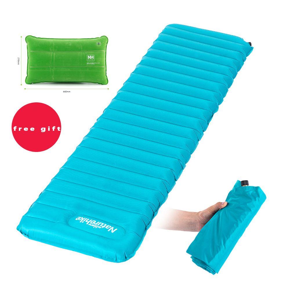 2018 Naturehike Ultralight Manual Inflatable Hand Press Inflating Dampproof Sleeping Pad Outdoor Camping Tent Air Mat Mattress