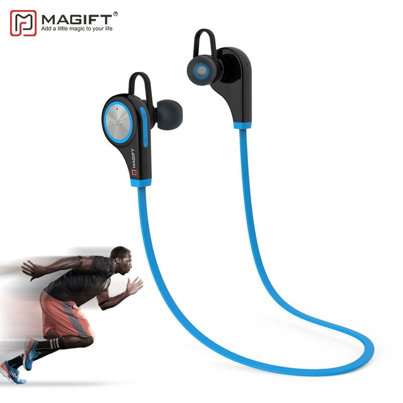 Magift6 <font><b>Sports</b></font> Bluetooth Headsets CSR4.1 Q9 Wireless In-ear Stereo Earphone with Microphone for iPhone7 plus Android
