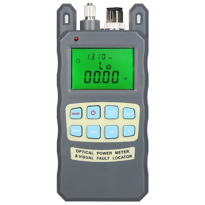Gray 10MW AUA-80A optical power meter red light machine fiber light decay tester red light source 10 km