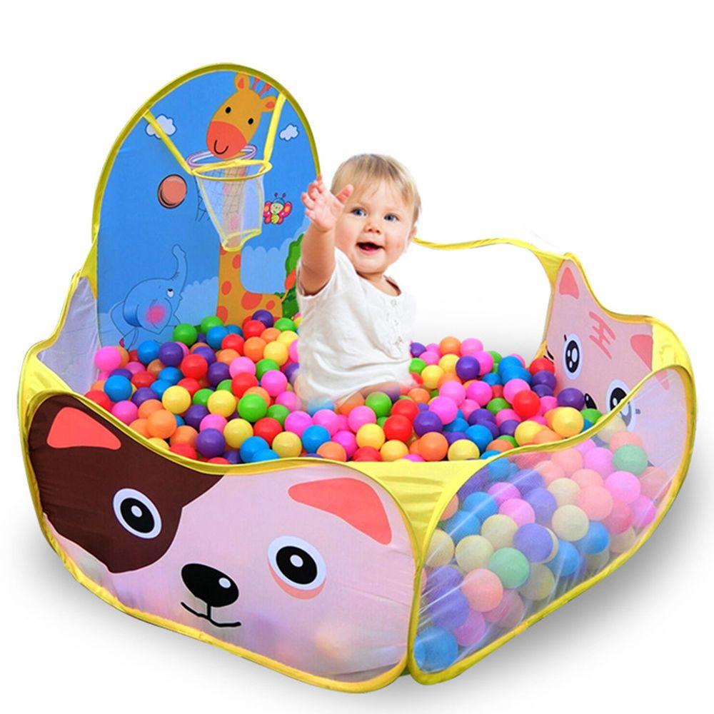 1.2 M Bébé de Parcs Pour Enfants + 50 pcs 6 cm boules Pour Enfants Pliable Enfants Piscine À Balles En Plein Air/Intérieur jeu Tente Jouet D'activité Clôtures Pop Up