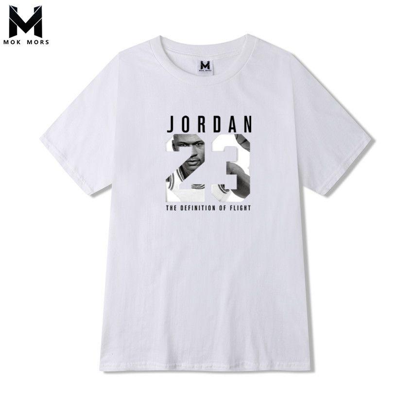 2018 New Mens JORDAN 23 printing T Shirt Brand Clothing Hip Hop Letter Print Men T Shirt Short Sleeve Anime High Quality T-Shirt