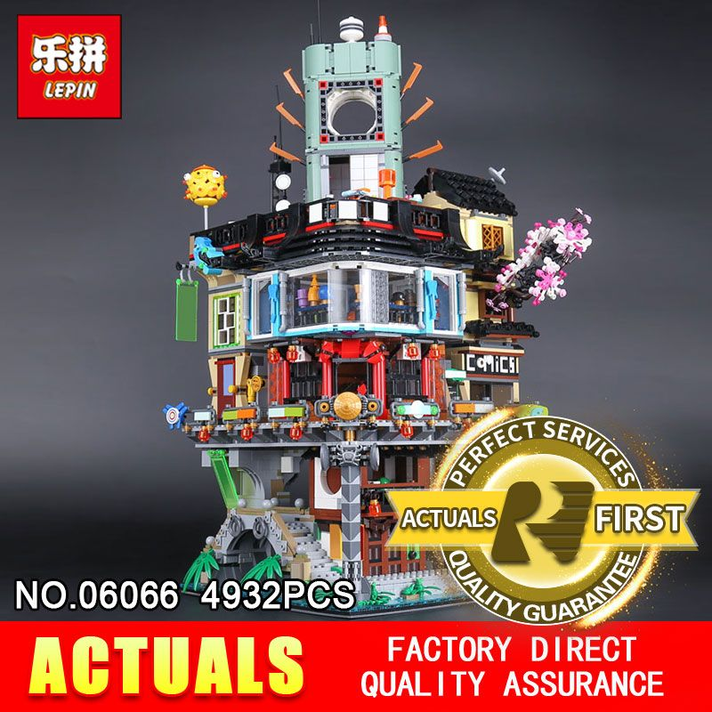 Lepin 06066 4932Pcs The Movies Series Creative City Model Educational Building Blocks Bricks Toys Model 7062 for Children gifts