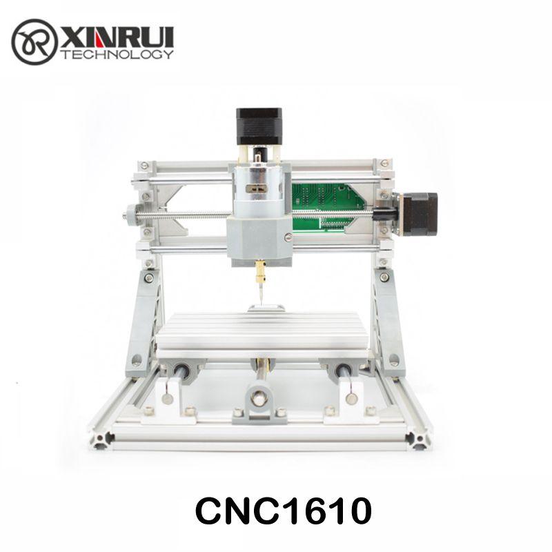 CNC 1610 GRBL contrôle bricolage mini CNC machine, zone de travail 16x10x4.5 cm, 3 axes Pcb fraiseuse, routeur en bois, routeur de CNC, v2.4