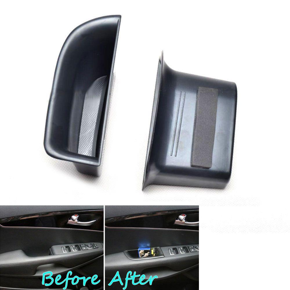 2x переднем сиденье автомобиля двери подлокотника телефона держатель для хранения Box Дело контейнер подходит для Kia Sorento um 2016 автомобилей сре...