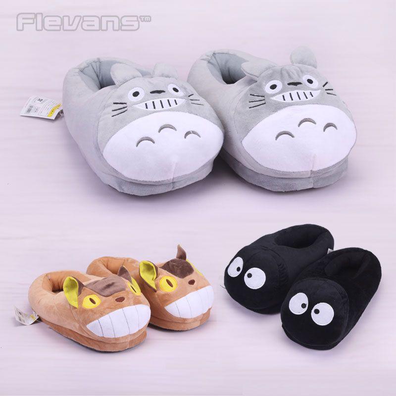 Mon Voisin Totoro Totoro Chat Bus Fairydust En Peluche Jouets Poupées de Bande Dessinée Accueil Maison D'hiver Pantoufles pour Enfants Femmes Hommes