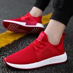 Venta caliente populares zapatos casuales para hombres moda de alta calidad cómoda marca transpirable zapatos masculinos gris negro rojo zapatillas