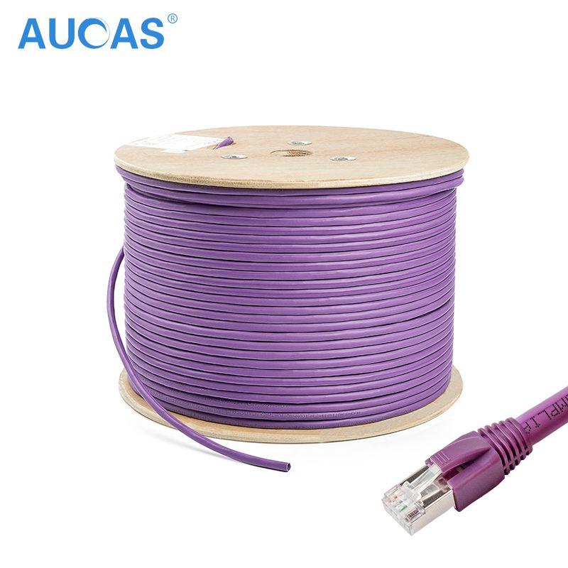 AUCAS 10m 20m 30m 4 paires torsadées Cat7 RJ45 câble FTP solide Lan Ethernet câbles réseau Lan câble Cat7 cordon livraison gratuite