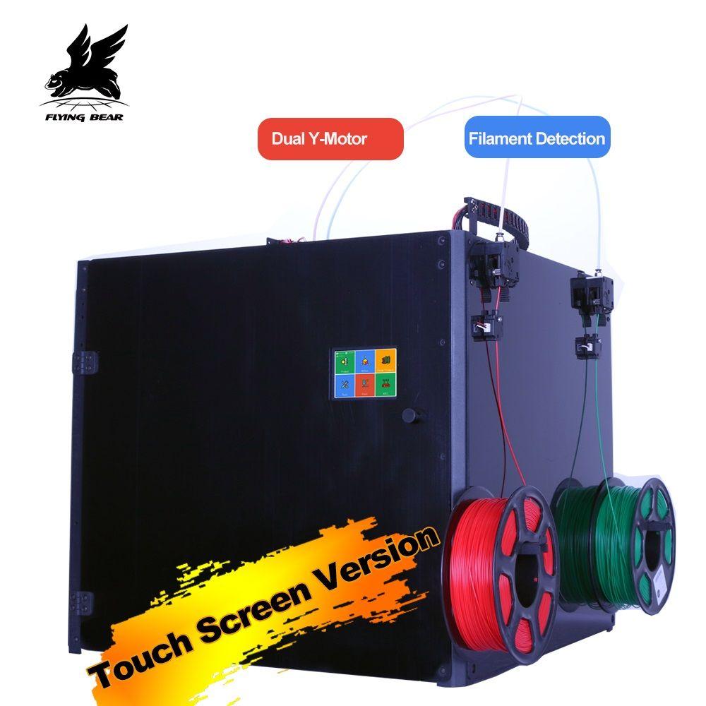 Activity Flyingbear Tornado 2 Pro large 3d Printer DIY Full metal Linear rail 3d printer Kit Precision double extruder