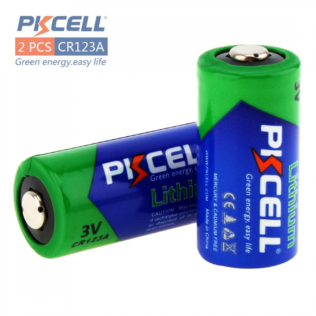 PKCELL 2 pièces 2/3A CR123A CR123 CR 123 CR17335 123A CR17345 (CR17335) 16340 3 v Au Lithium Batterie pour Caméras/Jouets