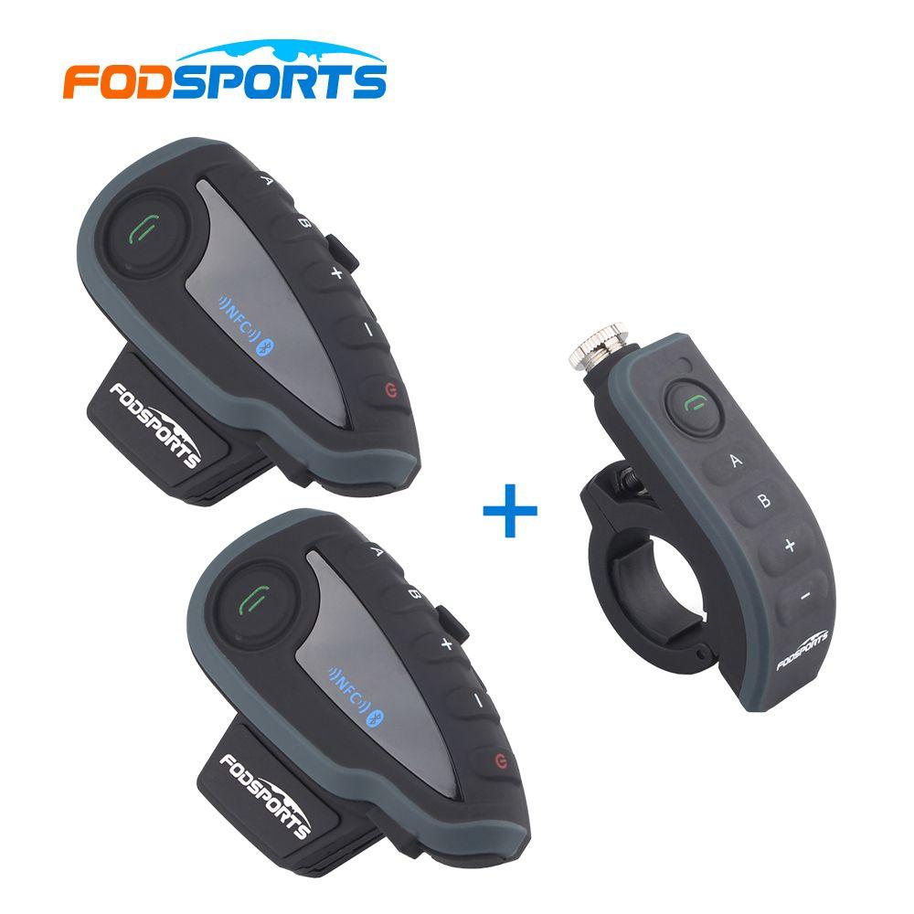 2 * V8 Intercom mit 1 * Fernbedienung! V8 sprech Motorrad Bluetooth Helm Intercom-Headset mit FM NFC für 5 Fahrer