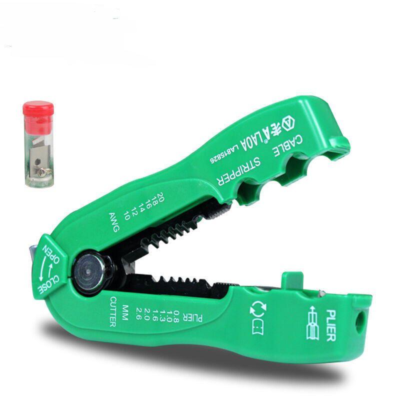 LAOA multifonction fil cutter câble décapant ligne fil décapage pince à sertir mini portable outils à main 0.8-2.6mm LA815826