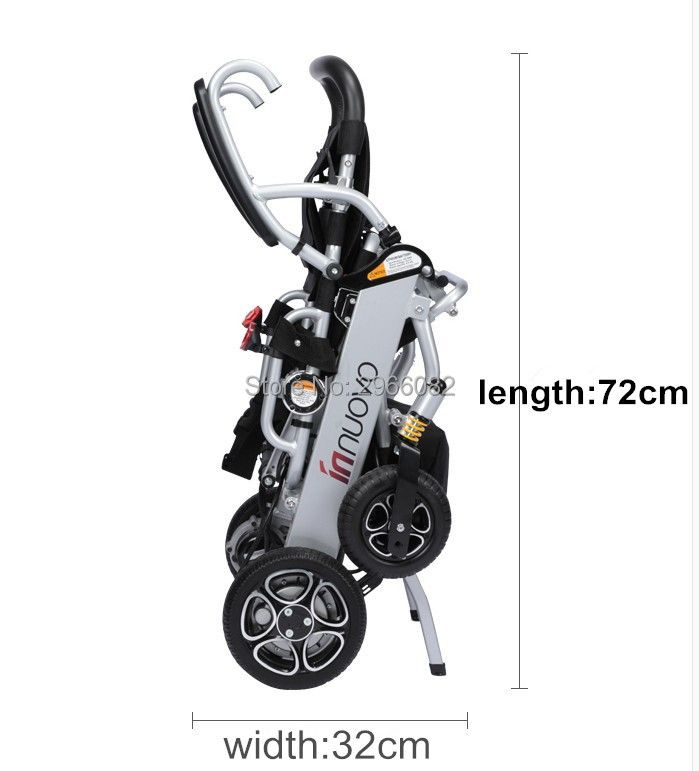 High quality lightweight portable electric wheelchair for disabled people