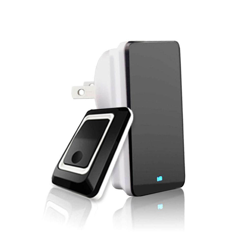 New TS-K108W11 Simple Design Home Wireless Door Bell Doorbell Energy Saving Adjustable Sound Volume Door Bell Black US/EU/UK