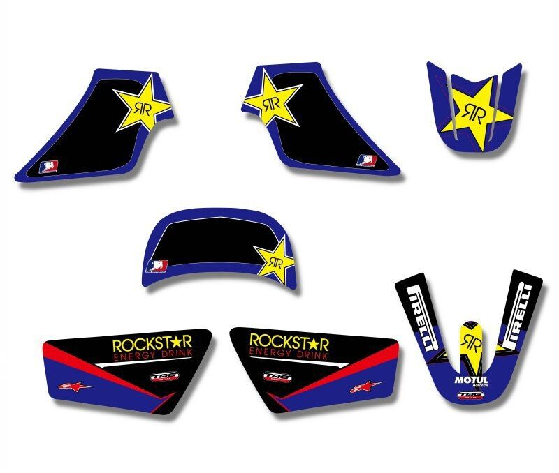 Rockstar New Style TEAM GRAPHICS&BACKGROUNDS DECAL STICKERS Kits For Yamaha PW 50 PW50 PIT bike