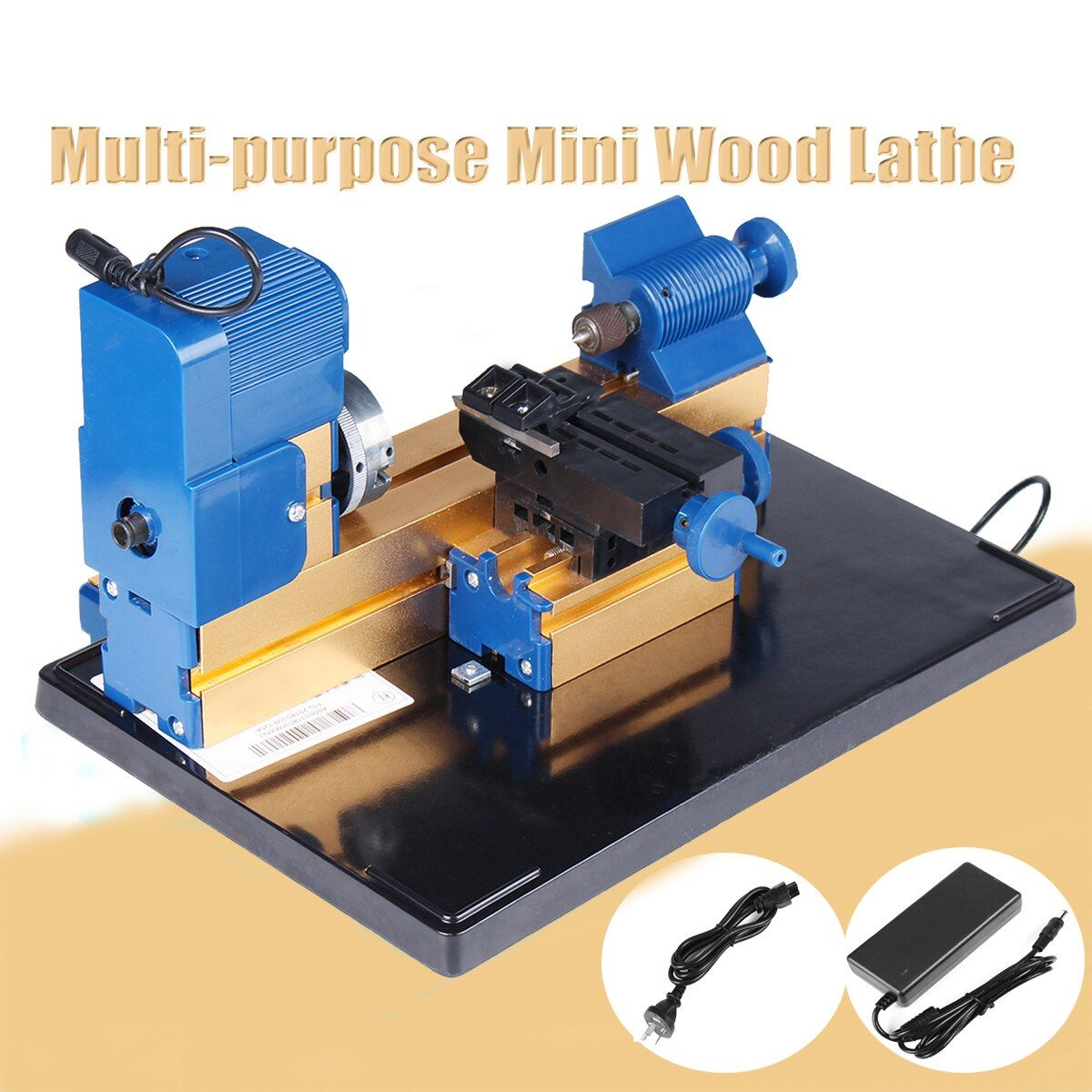 24W DC12V 2A Multifunction Mini Wood Lathe Motorized Jig-saw Bead Grinder Driller Woodworking Turning Cutting Bead Tool